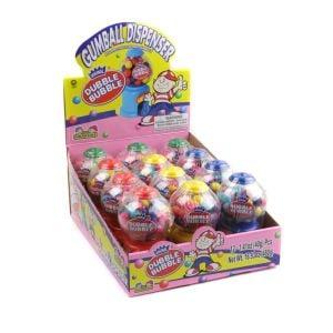 Dubble Bubble Mini Gumball Machine 12 Piece